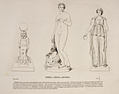 Illustration of human figure statues