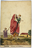 Parsee woman and child