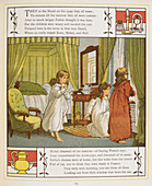 Three young girls in their bedroom