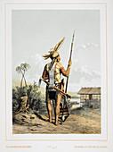 A Dayak,Borneo
