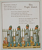 The night watch. Four policeman