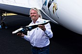 Richard Branson and LauncherOne rocket