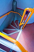 Double-decker bus stairs