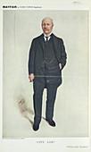 Man in a three piece suit smoking a cigar