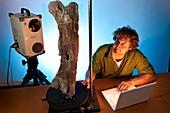 Dinosaur fossil 3D scanning