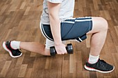 Knee physiotherapy