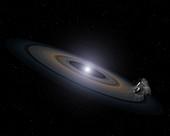 Accretion disk around a white dwarf