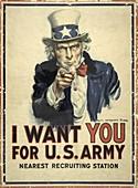 US Army recruitment poster,World War I