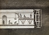 Thames Tunnel construction,19th century