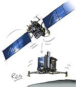 Rosetta spacecraft,artwork