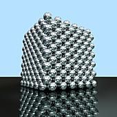 Crystal structure of thorium,artwork