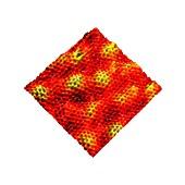 Graphene lattice,STM image