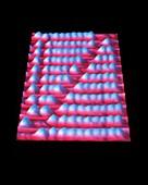 Nanometre-scale abacus,STM image