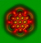 Hexabenzocoronene molecule,AFM image