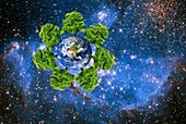 Global environment,conceptual artwork