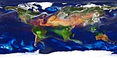 Global dust and aerosol,computer model