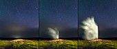 Old Faithful geyser and Ursa Major stars