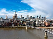 London skyline,St Paul's Cathedral