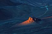 Sunrise in Saharan mountains
