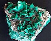 Malachite covered barite