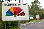 Fire Danger Rating road sign,Victoria
