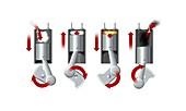 Diesel engine cylinder,artwork