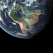 South America with sea level rise