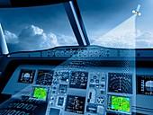 Satellite air traffic control system