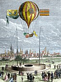 Ascent of a Navigable Balloon