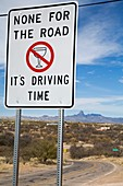 Drink-driving warning sign