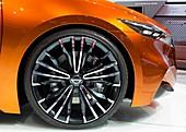Wheel of a Nissan Sport Sedan