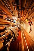 Large Hadron Collider tunnel