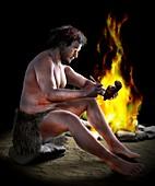 Neolithic sculptor,artwork