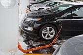 Chevrolet Volt electric car charging