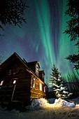 Aurora Borealis over Cabin