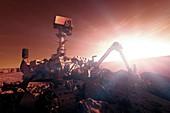 NASA Curiosity Mars rover,artwork