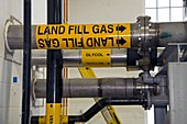 Landfill gas generating electricity