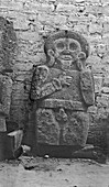 Mayan carved statue,1910s