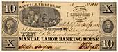 Manual Labor Bank note,1836