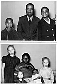 Family with children with albinism,1930s