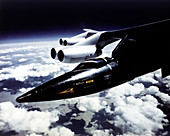 X-15 aircraft on a Boeing B-52,1965