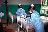 Ebola isolation ward