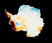 Antarctic ice mass change 2003-2013