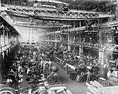 Krupp gun factory,Germany,1917