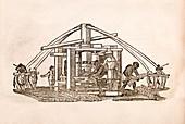 Sugar cane mill,17th century