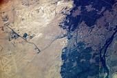 Giza Plateau and Cairo,ISS image