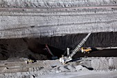 Surface coal mine,Wyoming,USA