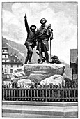 Mont Blanc first ascent monument,1887