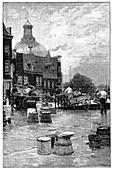 Amsterdam milk market,19th century