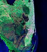 Florida,infrared Landsat 5 image